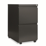 Alera® Two-Drawer Mobile Pedestal File With Full-Length Pull - 15-7/8''W x 23''D - Charcoal [ALEPB542823CH-FS-NAT]