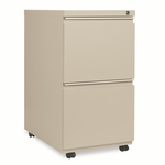 Alera® Two-Drawer Mobile Pedestal File With Full-Length Pull - 15-7/8''W x 23''D - Putty [ALEPB542823PY-FS-NAT]