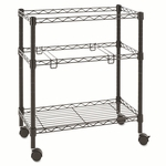 Alera® Two-Tier Rolling File Cart - 26w x14d x 29-1/2h - Black [ALEFW601426BL-FS-NAT]