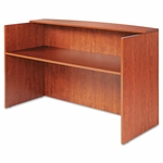 Alera® Valencia Series Reception Desk w/Counter - 71w x 35 1/2d x 42 1/2h - Medium Cherry [ALEVA327236MC-FS-NAT]