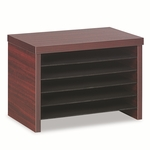 Alera® Valencia Under Counter File Organizer Shelf - 15-3/4''W x 9-3/4''D x 10-3/4''H - Mahogany [ALEVA316012MY-FS-NAT]