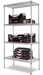 Alera® Wire Shelving Starter Kit - Four-Shelf - 36w x 18d x 72h - Silver [ALESW503618SR-FS-NAT]