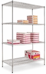 Alera® Wire Shelving Starter Kit - Four-Shelf - 48w x 24d x 72h - Silver [ALESW504824SR-FS-NAT]