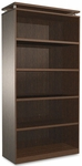 Alera® Sedina Series Bookcase - Five-Shelf - 36w x 15d x 72h - Espresso [ALESE637236ES-FS-NAT]