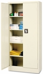 Alera® Space Mizer Storage Cabinet- 4 Fixed Shelves- 30''W x 15''D x 66''H- Putty [ALECM6615PY-FS-NAT]