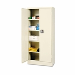 Alera® Space Saver Storage Cabinet - Four Shelves - 30w x 15d x 66h - Putty [ALECM6615PY-FS-NAT]