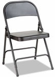 Alera® Steel Folding Chair- Graphite- 4/Carton [ALEFC94B-FS-NAT]