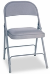 Alera® Steel Folding Chair w/Padded Seat- Gray- 4/Carton [ALEFC94VY40LG-FS-NAT]