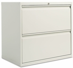 Alera® Two-Drawer Lateral File Cabinet- 30''W x 19-1/4''D x 29''H - Light Gray [ALELF3029LG-FS-NAT]