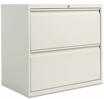 Alera® Two-Drawer Lateral File Cabinet - 30w x 19-1/4d x 28-3/8h - Light Gray [ALELF3029LG-FS-NAT]