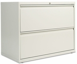 Alera® Two-Drawer Lateral File Cabinet- 36''W x 19-1/4''D x 29''H- Light Gray [ALELF3629LG-FS-NAT]