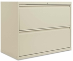Alera® Two-Drawer Lateral File Cabinet - 36w x 19-1/4d x 28-3/8h - Putty [ALELF3629PY-FS-NAT]