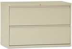 Alera® Two-Drawer Lateral File Cabinet- 42''W x 19-1/4''D x 29''H - Putty [ALELF4229PY-FS-NAT]