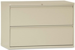 Alera® Two-Drawer Lateral File Cabinet - 42w x 19-1/4d x 28-3/8h - Putty [ALELF4229PY-FS-NAT]