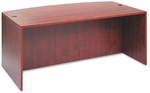 Alera® Valencia Bow Front Desk Shell- 71''W x 35-1/2''D to 41-3/8''D x 29-1/2''H - Medium Cherry [ALEVA227236MC-FS-NAT]