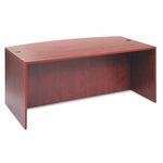 Alera® Valencia Bow Front Desk Shell - 71w x 35 1/2d to 41 3/8d x 29 1/2h - Medium Cherry [ALEVA227236MC-FS-NAT]