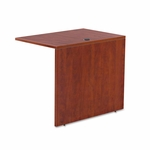 Alera® Valencia Series Reversible Return/Bridge Shell- 35''W x 23-5/8''D - Medium Cherry [ALEVA353624MC-FS-NAT]