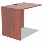 Alera® Valencia Series Reversible Return/Bridge Shell - 35w x 23 5/8d - Medium Cherry [ALEVA353624MC-FS-NAT]