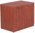 Alera® Valencia Series Storage Cabinet- 34''W x 22-3/4''D x 29-1/2''H - Medium Cherry [ALEVA613622MC-FS-NAT]