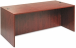 Alera® Valencia Series Straight Front Desk Shell - 71w x 35 1/2d x 29 1/2h - Med Cherry [ALEVA217236MC-FS-NAT]