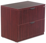 Alera® Valencia Series Two Drawer Lateral File - 34w x 22 3/4d x 29 1/2h - Mahogany [ALEVA513622MY-FS-NAT]