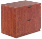 Alera® Valencia Series Two-Drawer Lateral File- 34''W x 22 3/4''D x 29 1/2''H - Medium Cherry [ALEVA513622MC-FS-NAT]