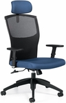 Alero High Back Tilter Task Chair with Adjustable Headrest - Grade 3 [1960-4-GR3-FS-GLO]