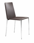 Alex Stacking Dining Chair in Espresso [101107-FS-ZUO]