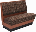 36''H Alex Style Single Sided Upholstered Booth - Grade 4 Vinyl [AS36-66U-GR4-SAT]
