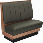 36''H Alex Style Wood Upholstered Booth - Grade 4 Vinyl [AS-36-66W-GR4-SAT]