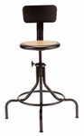 All Purpose Stool with Metal back,Swivel Seat and 4-Legged Base [223M-FS-UC]