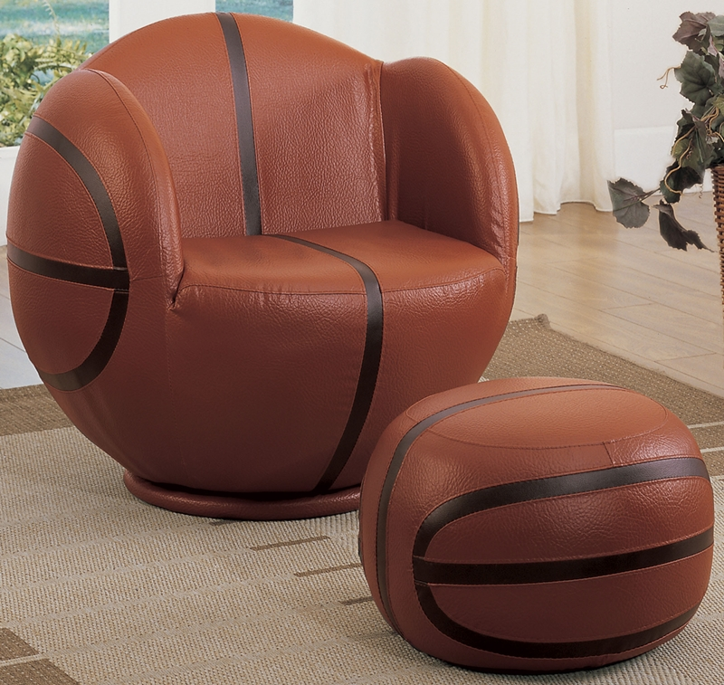 Basketball Chair And Ottoman Childs Upholstered