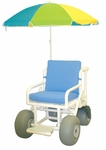 All Terrain Umbrella Chair with Casters - 36.5''W X 52''D [722-ATC-MJM]