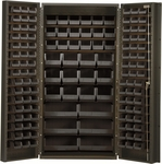 All-Welded Storage Bin Cabinet with 132 Bins [QSC-36-QSS]