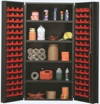 All-Welded Storage Bin Cabinet with 96 Bins [QSC-36-96-4IS-QSS]