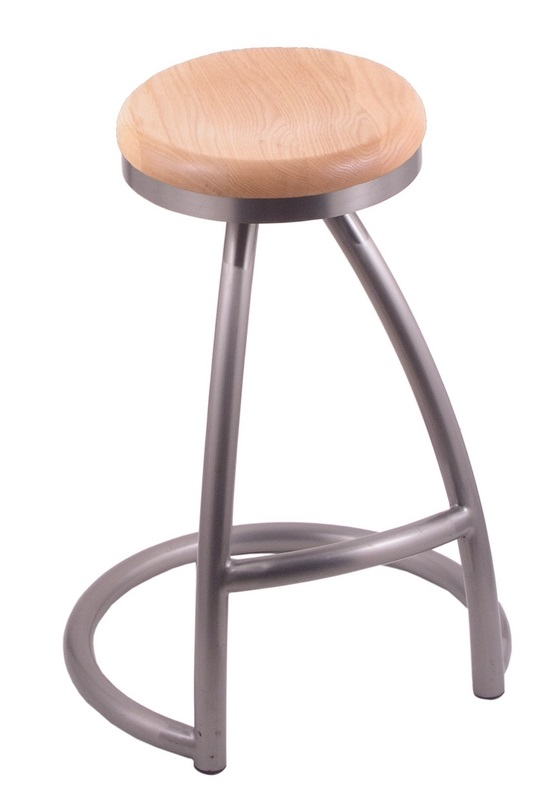 Alpha 25 39 39 Stainless Steel Finish Swivel Counter Height Stool With Na