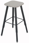 AlphaBetter® Stool with Foot Ring - Beige Seat with Black Frame [1205BE-FS-SAF]