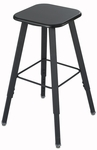 AlphaBetter® Stool with Foot Ring - Black Seat with Black Frame [1205BL-FS-SAF]