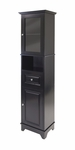 Alps Tall Cabinet with Glass Door and Drawer [20871-FS-WWT]