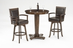 Ambassador 3 Piece Pub Set with 36'' Diameter Table and 2 Chairs - Rich Cherry [6124PTBS-FS-HILL]