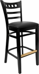 American Back Barstool with Black Finish and Black Vinyl Seat [8226B-B-BLACK-HND]
