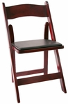 American Classic Red Mahogany Wood Folding Chair [A101-WOOD-RED-MAHOG-CSP]