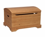 American Handmade Solid Knotty Pine Captain's Chest - Honey Oak