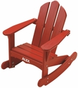 American Made Outdoor Child's Adirondack Rocking Chair Includes Personalization - Red
