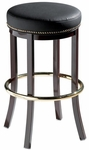 Americana Traditional Backless Barstool with Nail Trim [911-30-MTS]