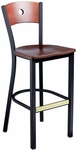 Americana Woods Circle Wood Back Barstool [951-30-MTS]