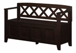 Amherst Collection Dark American Brown Entryway Storage Bench [INT-AXCAB-BNCH-DAB-FS-SIH]