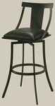 Amrita 26''H Barstool - Black Cushion [AA-219-26-GB-936-FS-PSTL]