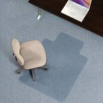 EverLife 36''W x 48''D Flat to Low Pile Anchorbar Chairmat with 20''W x 10''D Lip [120043-FS-ES]