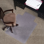 EverLife 36''W x 48''D Medium Pile Anchorbar Chairmat with 20''W x 10''D Lip [122083-FS-ES]